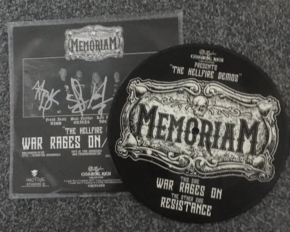 "Image of Memoriam - Hellfire Demo I - 7"" Single - Picture Disc - Signed"