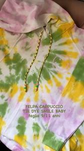 Image of FELPA CAPPUCCIO TIE DYE SMILE 9/11 ANNI