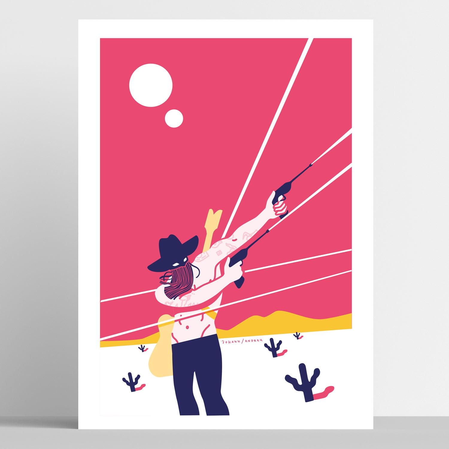 """""""Orville Peck/In the Middle of a Gunfire"""" - Artprint"""