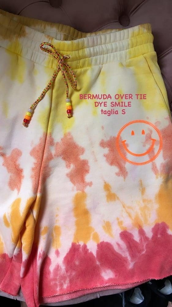 Image of BERMUDA FELPA OVER TIE DYE SMILE TAGLIA S
