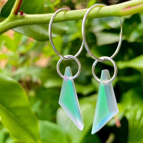 """Image of Potion Shift Prisms on 1"""" Hoops"""