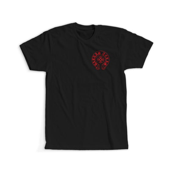 Image of DALLAS HEARTS TEE (BLK/RED)