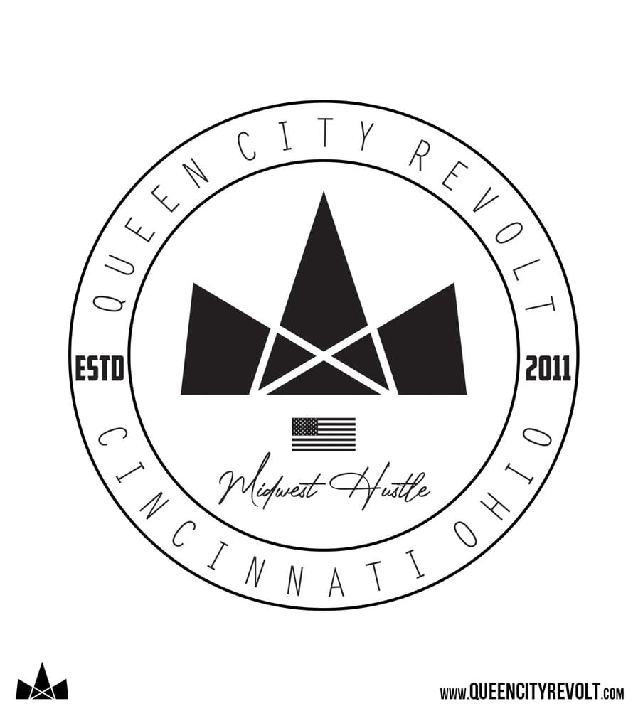 Image of QCR Circle Logo Tee, Olive Triblend