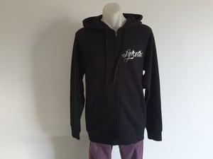 Image of Determination Zip Hood (Black / Silver)