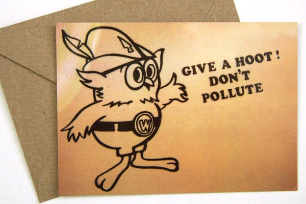Woodsy the Owl Postcard w/Envelope - Humboldt-Toiyabe National Forest