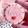 Love - Raised embosser
