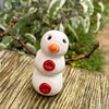 PRE ORDER Ceramic Snowman with Real Twiggy Arms
