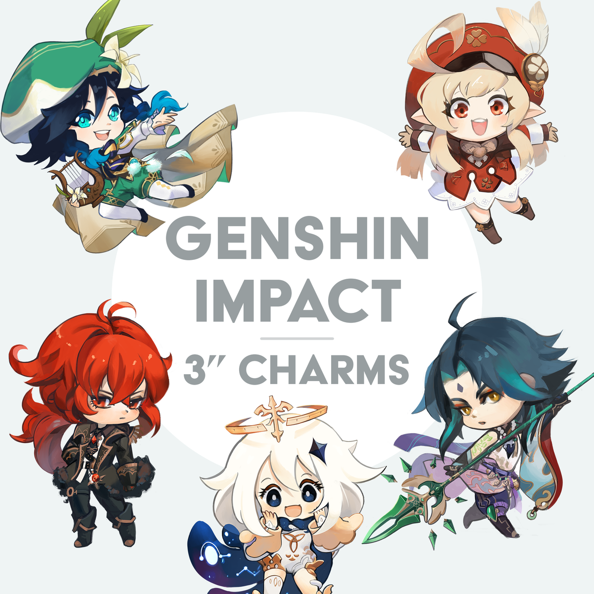 "Image of Genshin Impact 3"" Acrilyc Charms"