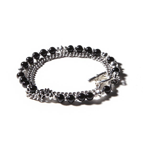 Image of ARMO - Beads + Chain Double Bracelet (5mm)