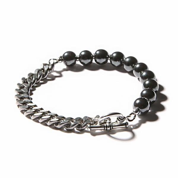 Image of ARMO - Beads + Chain Single Bracelet (8mm)