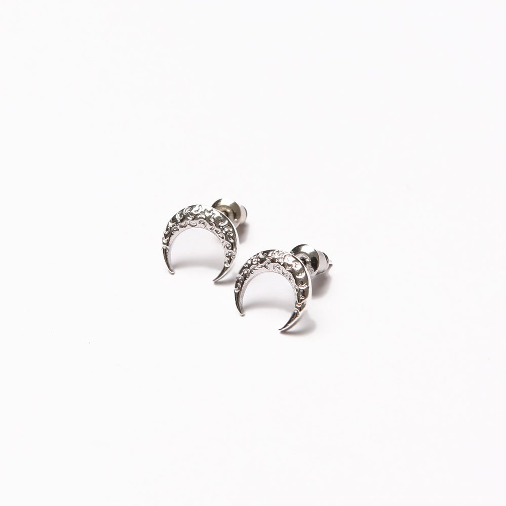 Image of ARMO - Crescent Tattoo Earring (Silver)