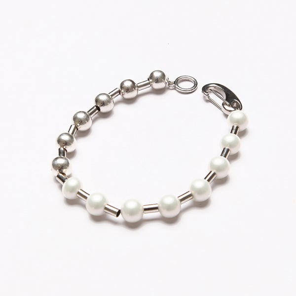 Image of ARMO - Ball Chain Pearl Bracelet