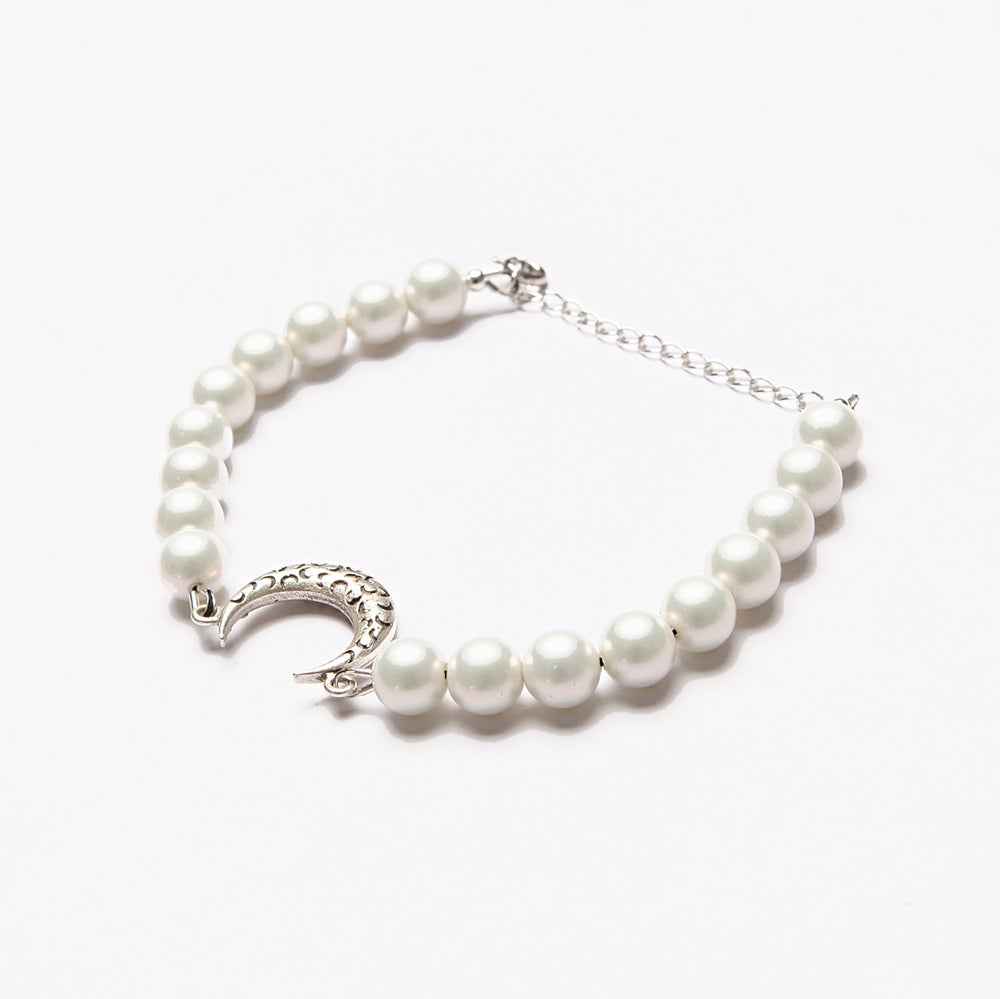 Image of ARMO - Crescent Tattoo Bracelet (Silver)