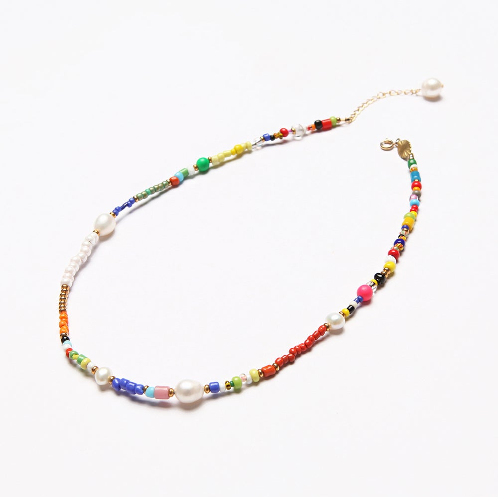Image of ARMO - Vintage Seed + Pearl Mix Necklace