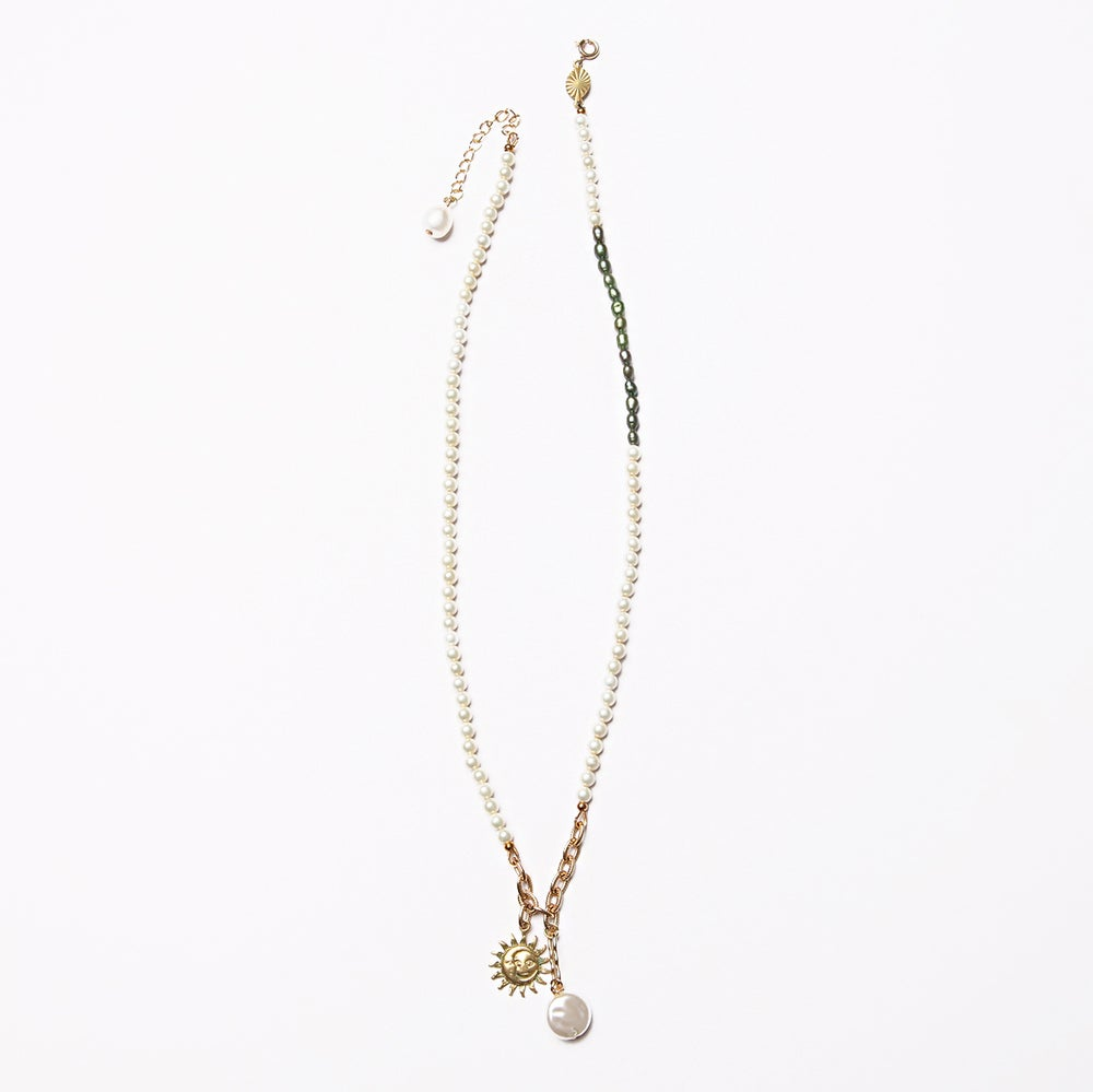 Image of ARMO - Pearl + Sun Necklace