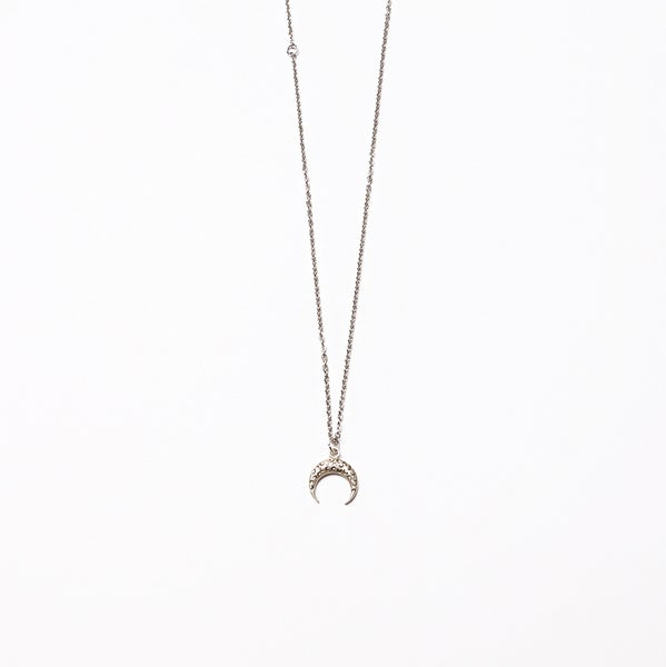 Image of ARMO - Crescent Tattoo Necklace (Silver)