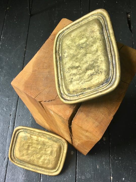 Image of Pair of Large Door Handles of Cast Brass