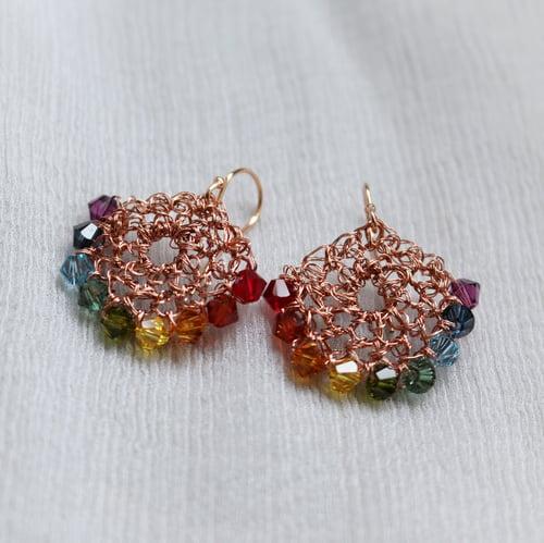 Image of CRESCENT EARRINGS - Rainbow