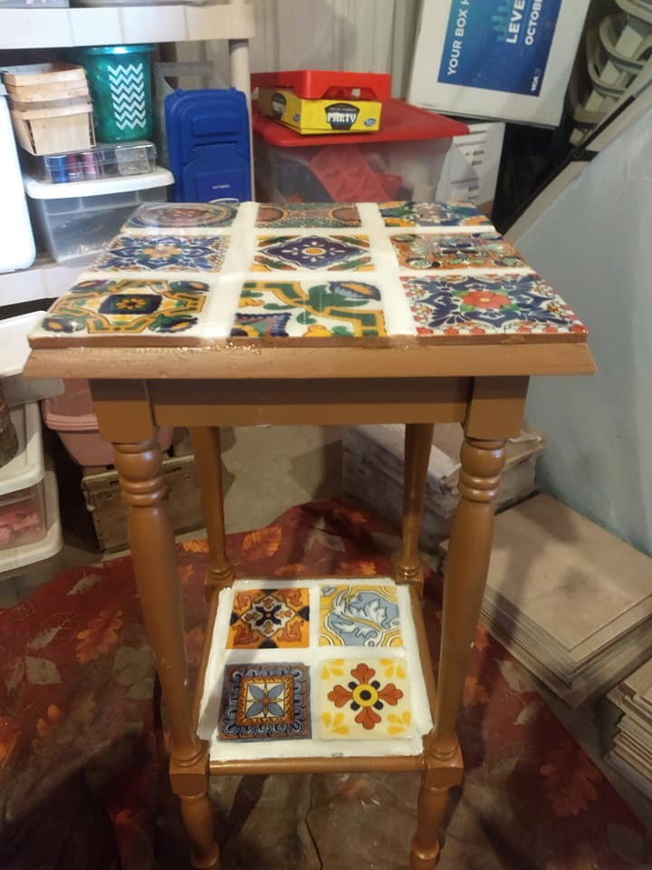 Image of Mexican Tile Plant Stand