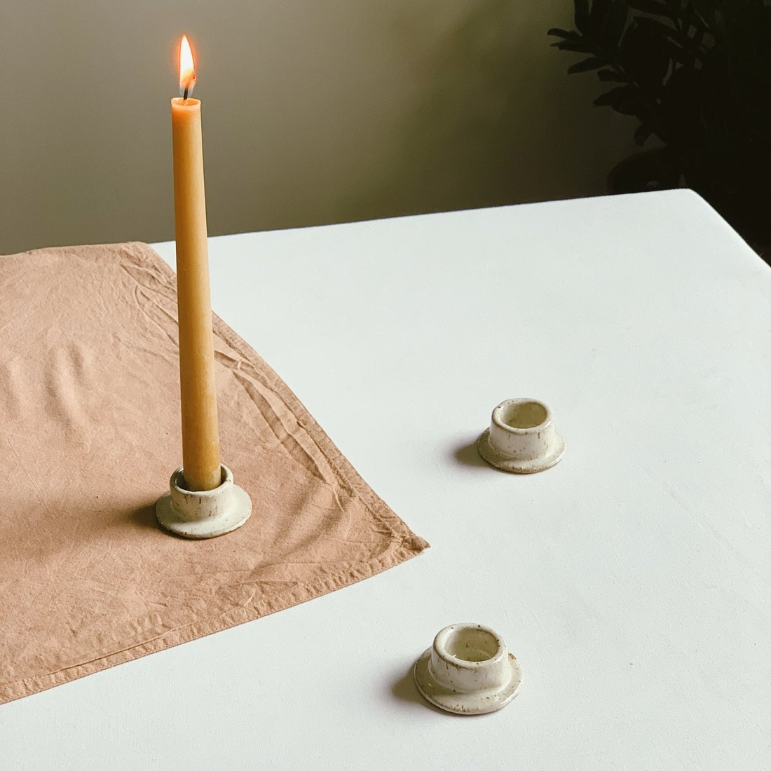 Image of Innerspacism Ceramic Taper Candle Holder