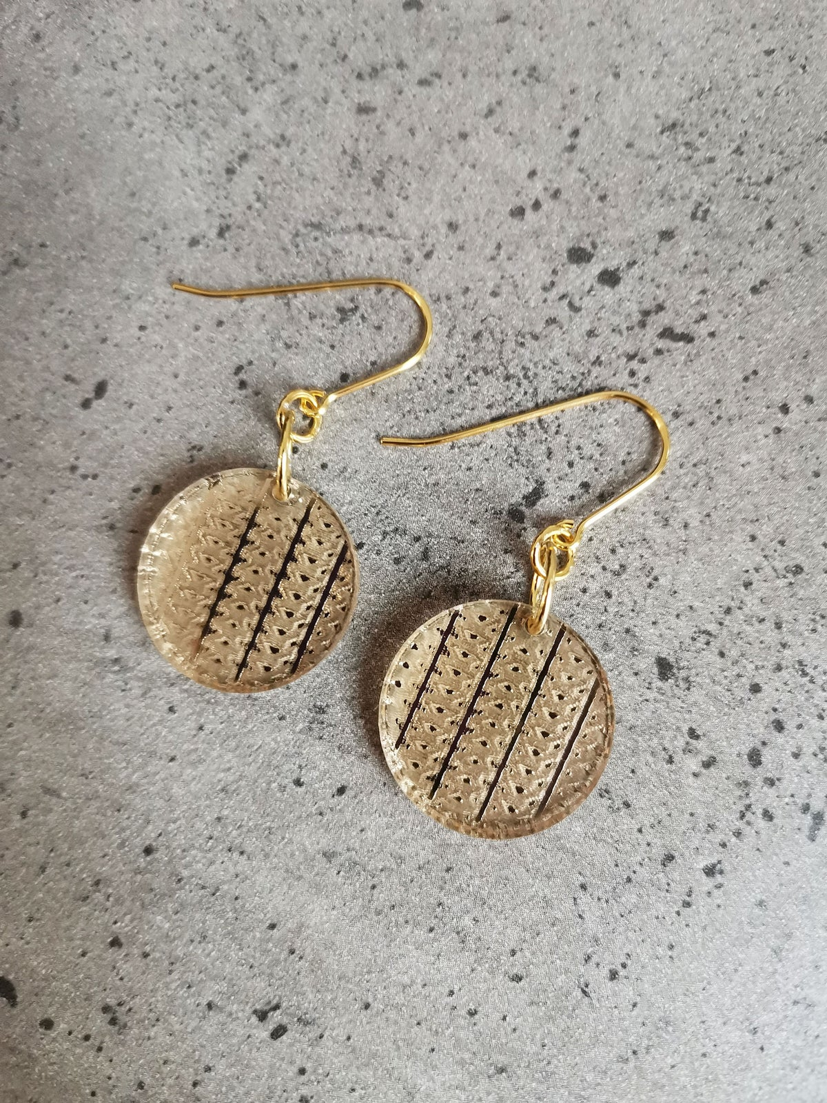 Image of Interweave Drops in Gold
