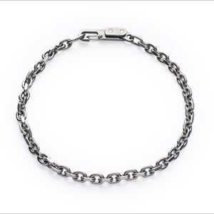 Image of DRILLING LAB - Anonymous Chain Necklace (Matte Silver)