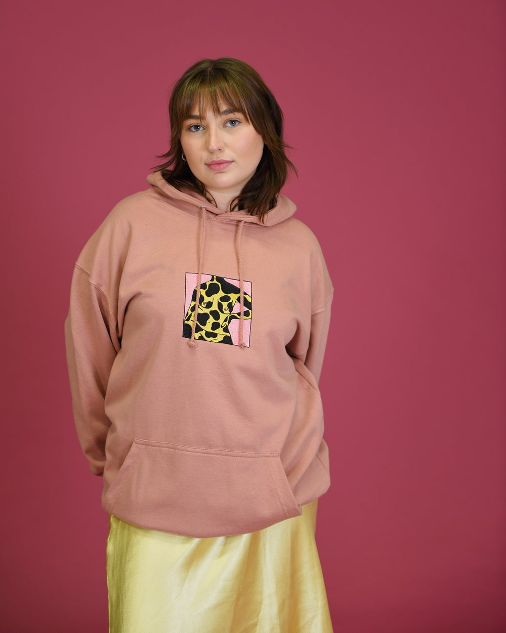 Image of square hoodie
