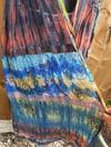 Jewelled duster jacket /kaftan dress rust blues