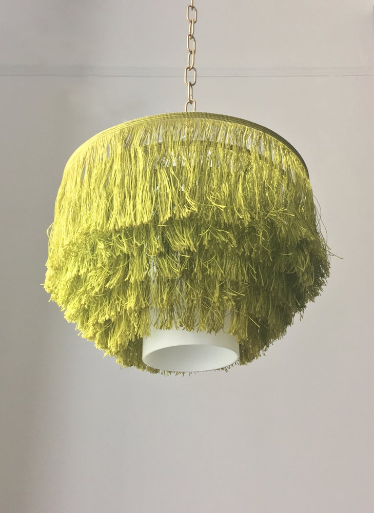 Image of Green Silk & Glass Light by Hans-Agne Jakobsson (2 available)