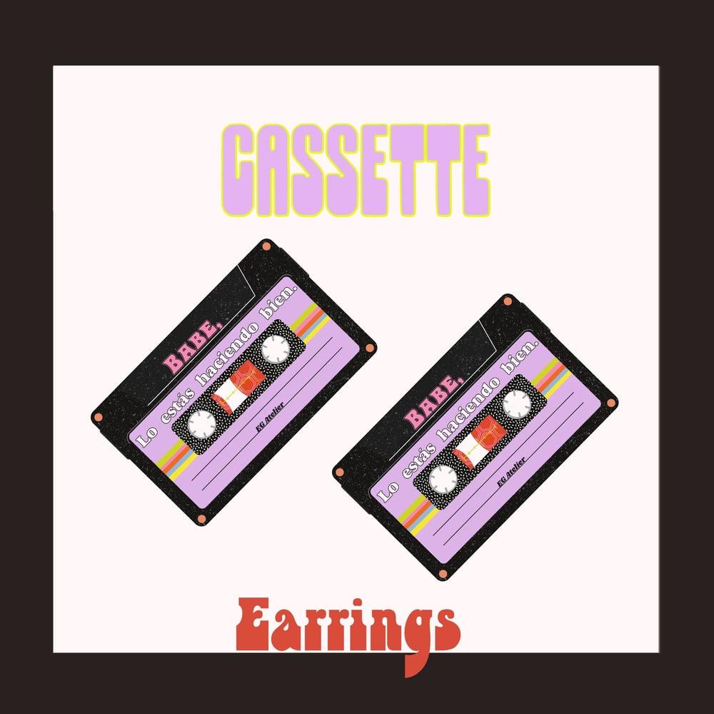 Image of Cassette Charm Earrings