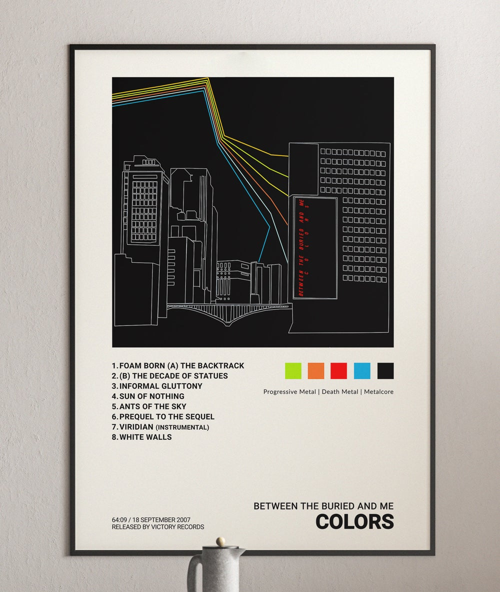 Between the Buried and Me - Colors Album Cover Poster