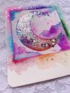 Rainbow Magic Moon 'Polaroid Style' Painting