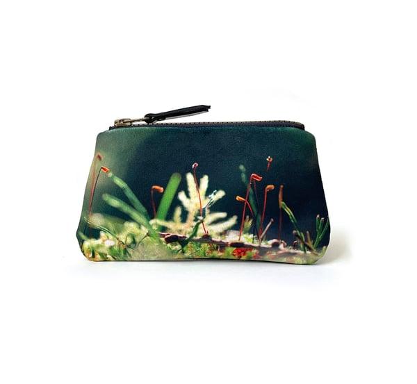 Image of Tree mosses, velvet zipper purse