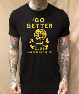 Image of THE GO-GETTER CLUB BLACK TEE