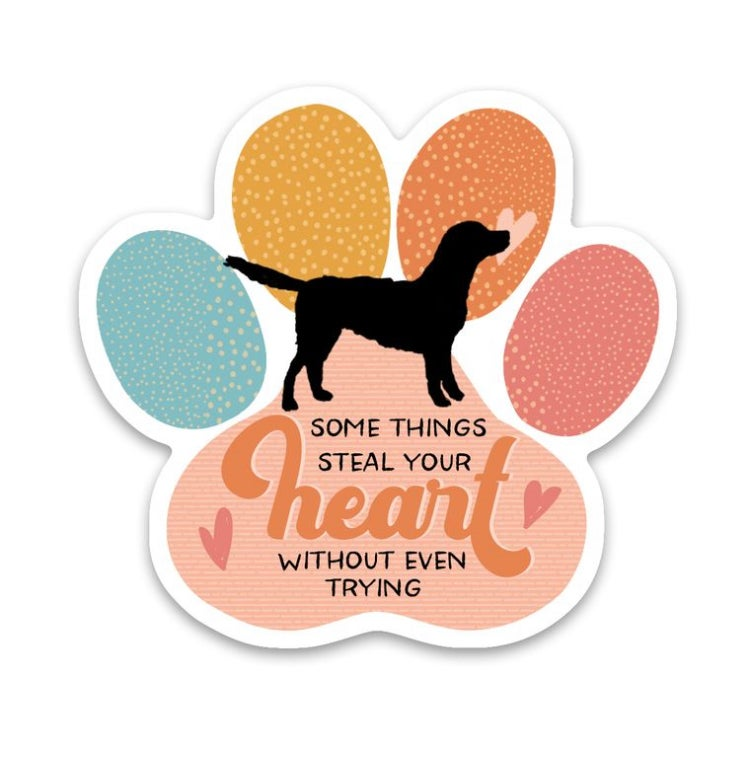 Image of Sticker Dog Paw Steal Your Heart