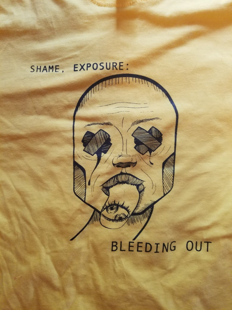 Image of Shame, Exposure: Bleeding Out Release Party Shirt