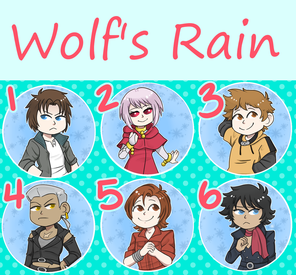 Wolf's Rain Buttons