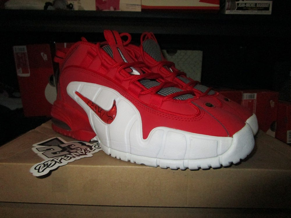 """Image of Air Max Penny I (1) """"University Red"""" *PRE-OWNED*"""