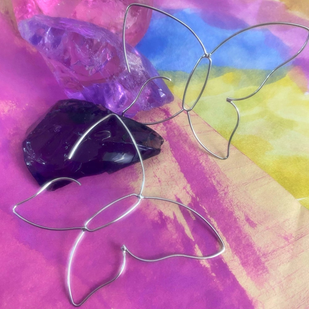 Image of BUTTERYFLY BENT WIRE EARRINGS