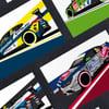 Excelr8 Motorsport | 2021 Drivers (set of 4)