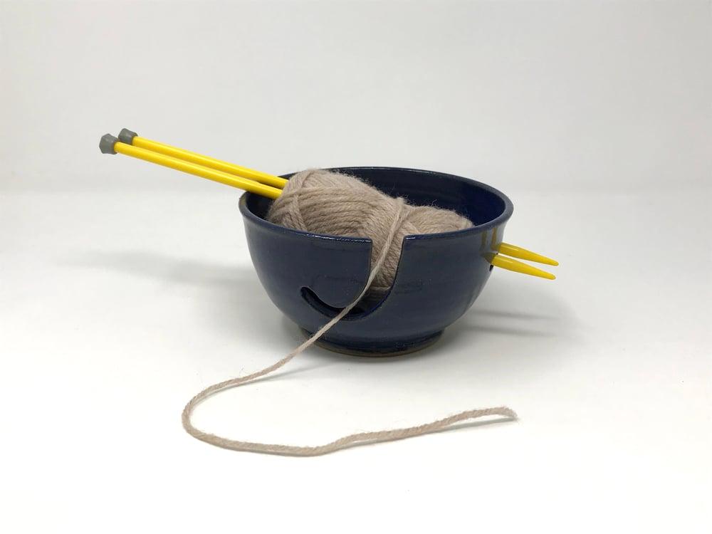 Image of Blue glazed String Bowl