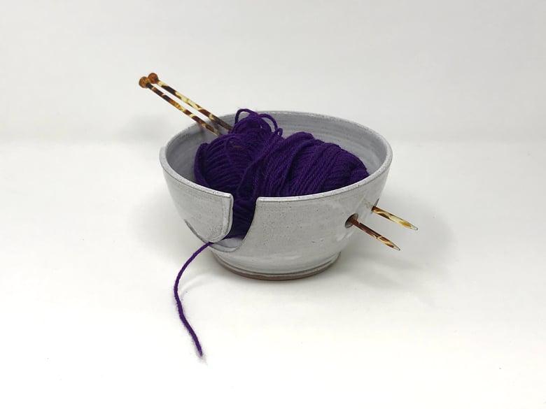 Image of White glazed String Bowl