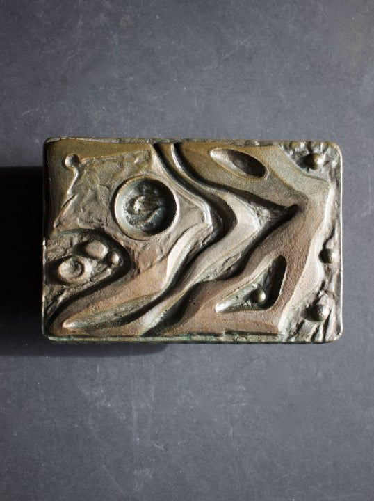 Image of Lateral Bronze Door Handle & Escutcheon