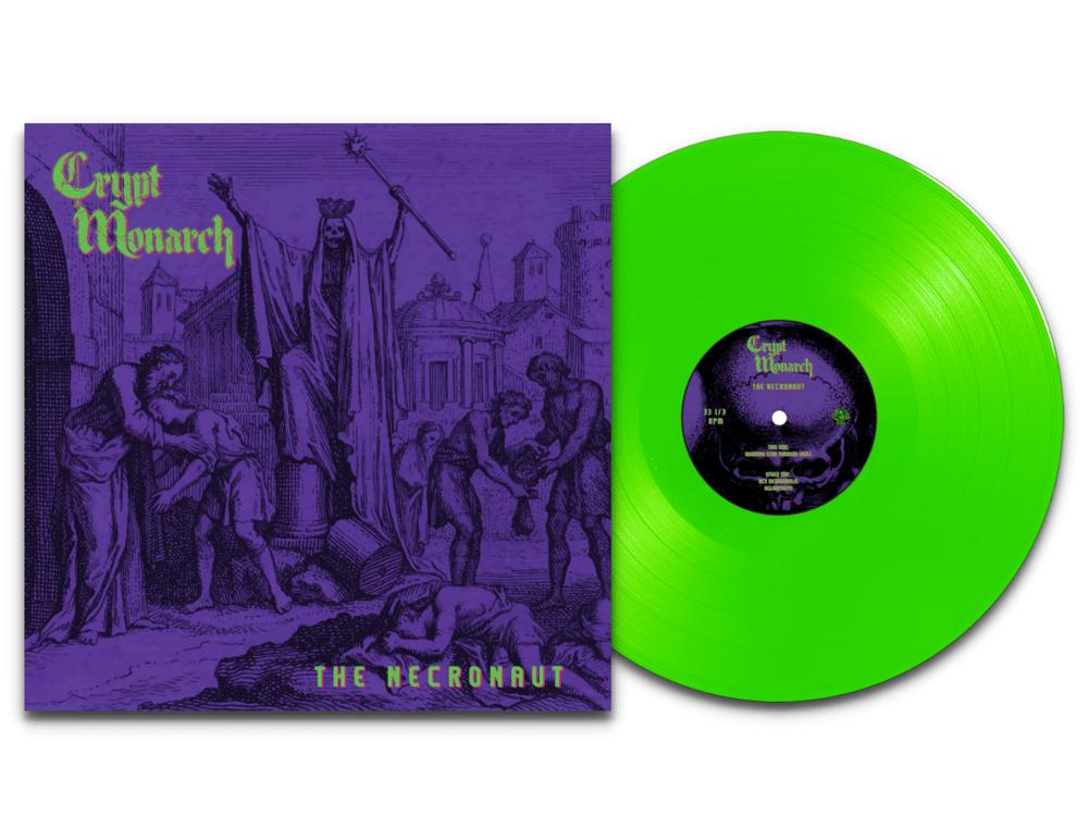Image of CRYPT MONARCH - THE NECRONAUT LTD Neon Green Vinyl
