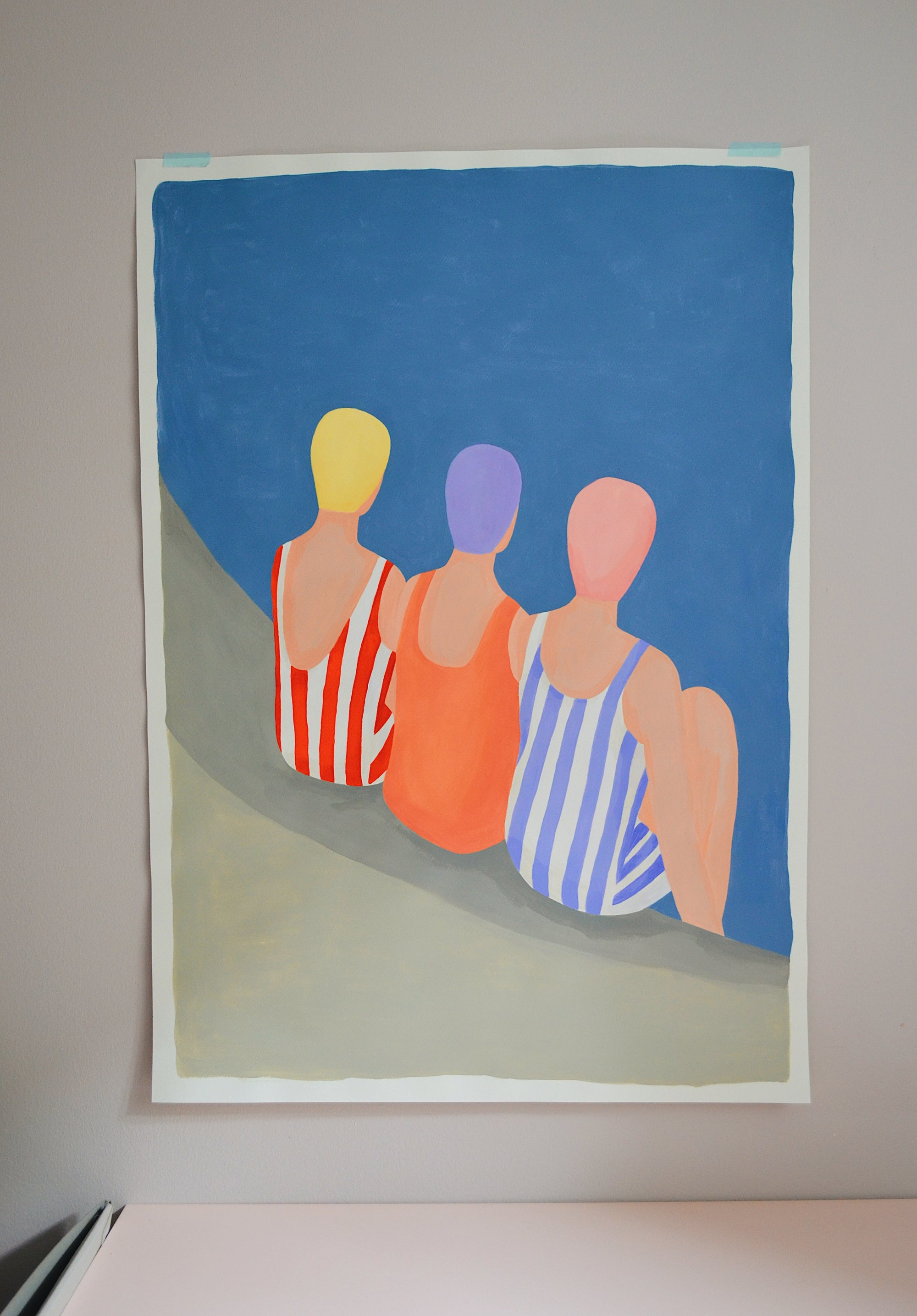 Image of Swimmers 70x100 cm - original painting