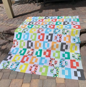 Puzzle Box Quilt Kit:  Quilt Top + Binding