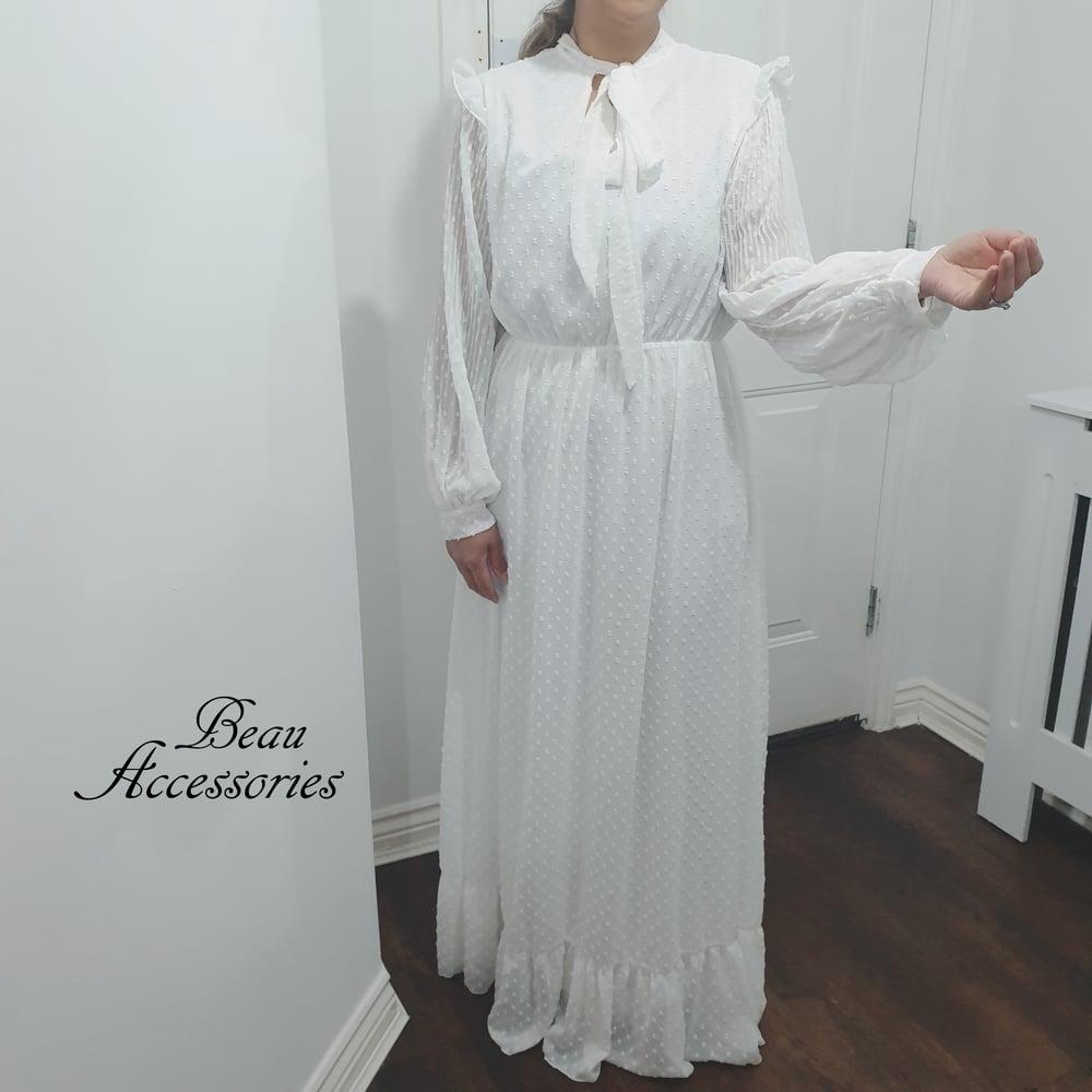 Image of Pure White Maxi Dress