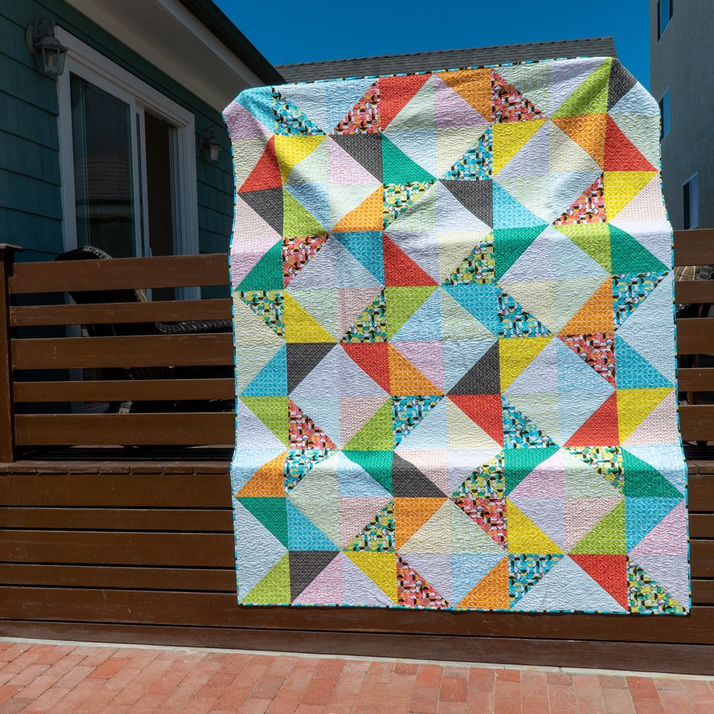 Charming Chevrons Quilt Kit Twin Size + Pattern