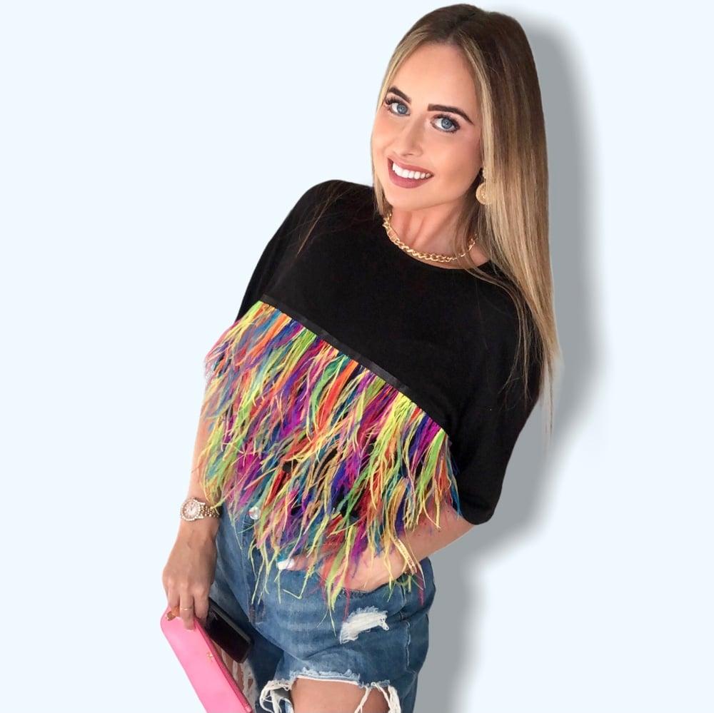 Image of Oversized Feather T-shirt
