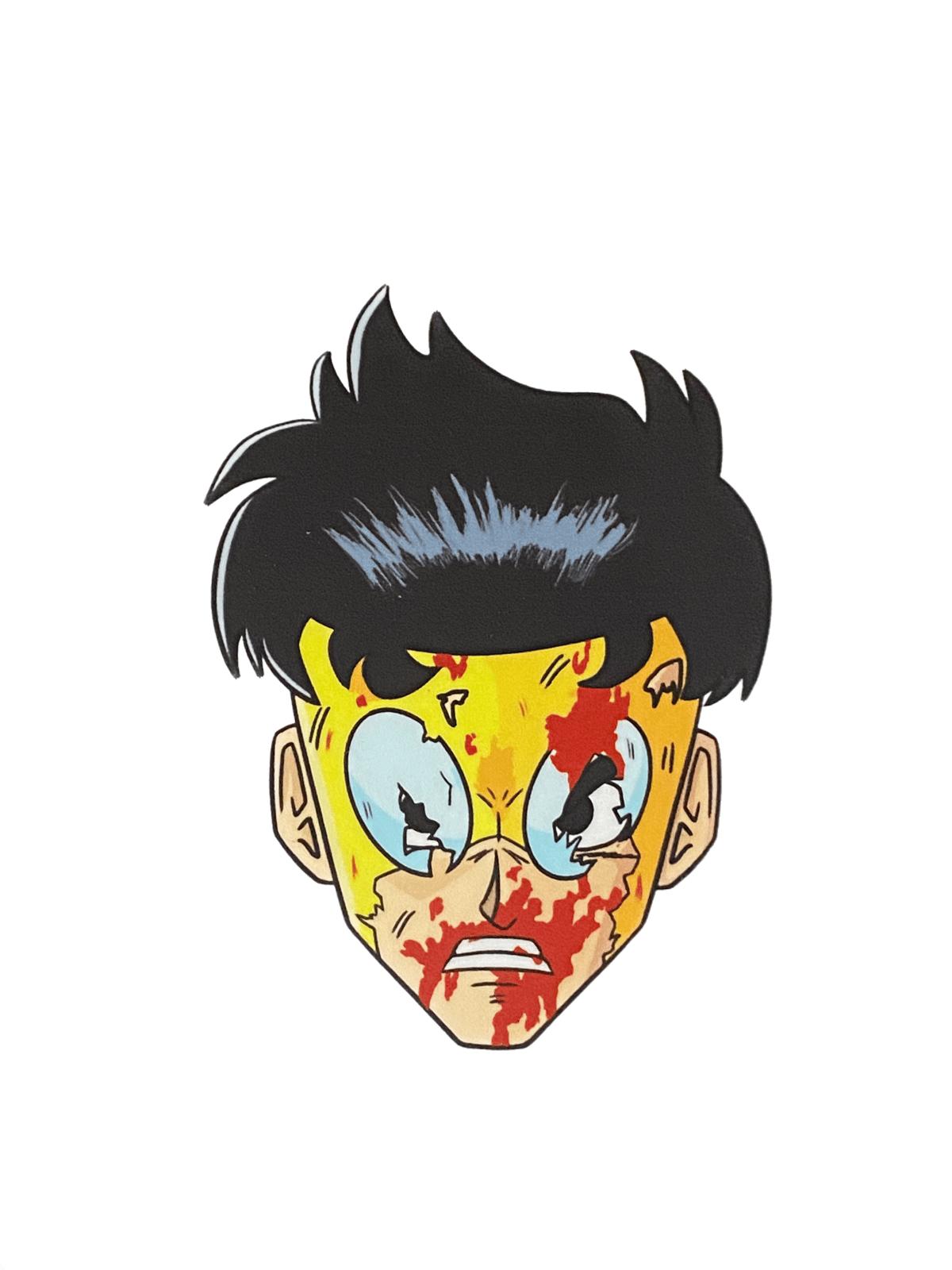Young Superhero Vinyl Sticker